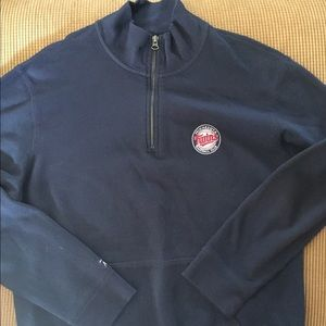Minnesota twins 1/4 zip pullover by Antigua Large
